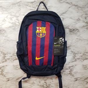 Nike Fc Barcelona Soccer Backpack New Red Blue